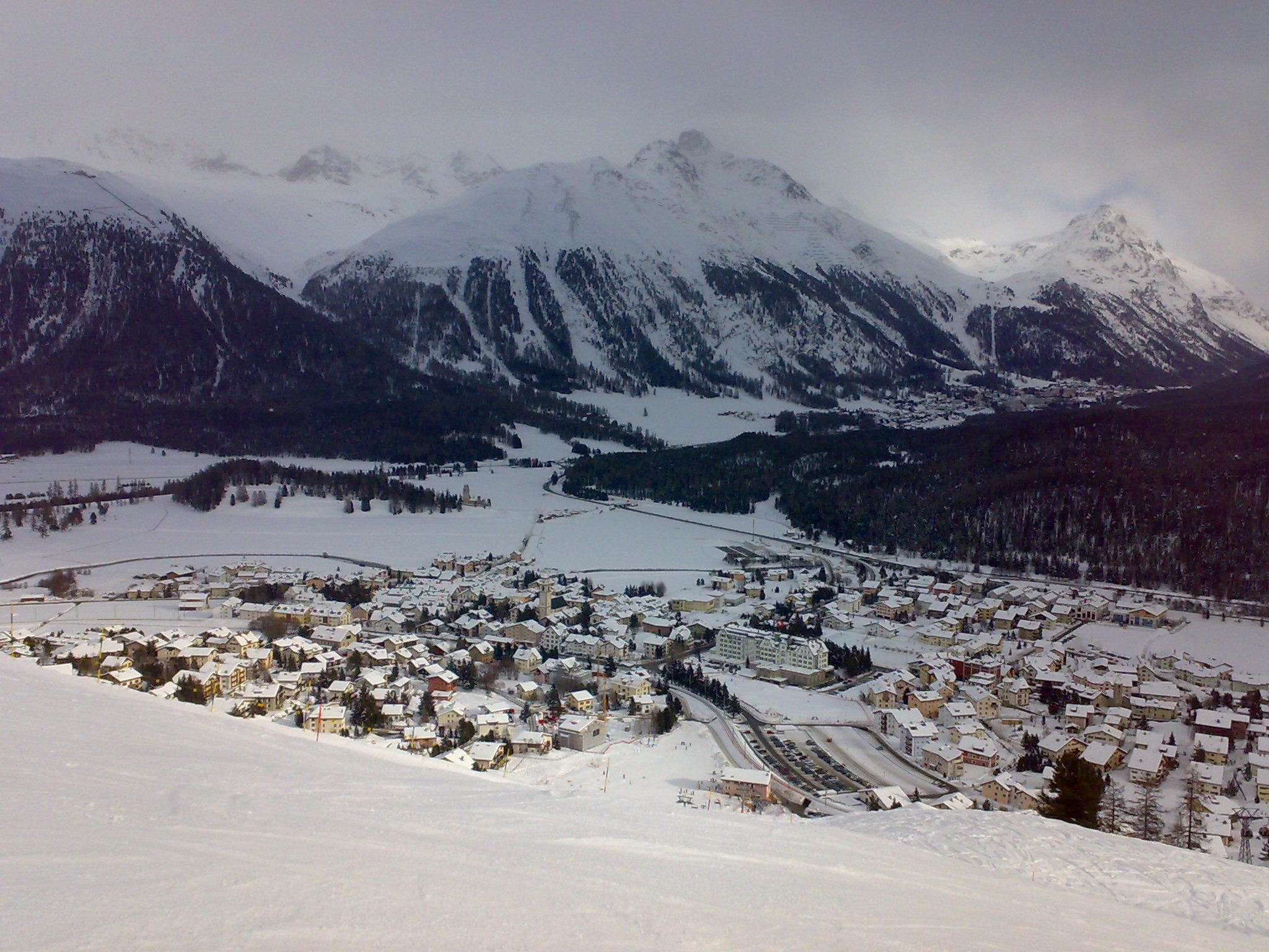 St. Moritz - View on Celerina